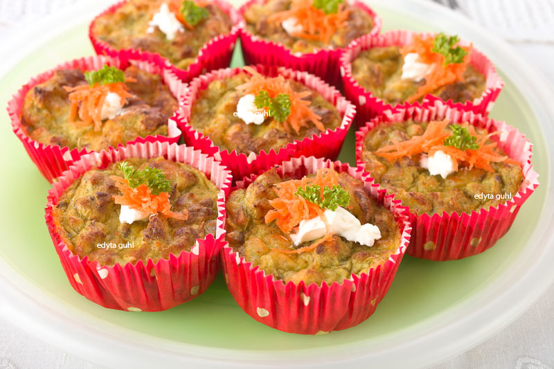 Leckere Sellerie-Muffins. Edyta Guhl.