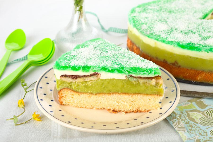Grüne Shrek- Torte für Kinder.