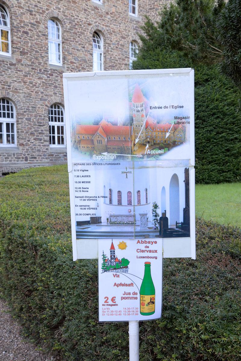 Abtei Clervaux, Luxemburg. Apfelsaft. Edyta Guhl.