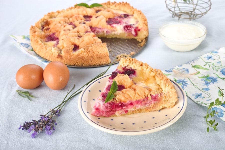 Himbeer- Schmandkuchen zum Sommerabschied. Edyta Guhl. rezepte für Kuchen mit Schmand.
