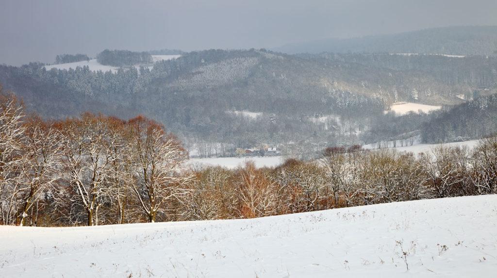 Winterlandschaft. Niederschlesien in Polen. Edyta Guhl.