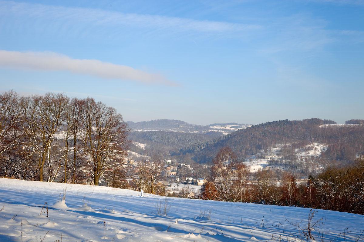 Winterlandschaft in Niederschlesien. Winter. Edyta Guhl. Meine Reisen.