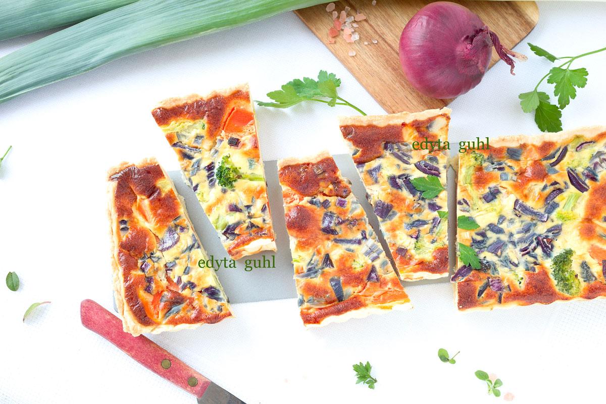 Gemüse- Tarte. Edyta Guhl.
