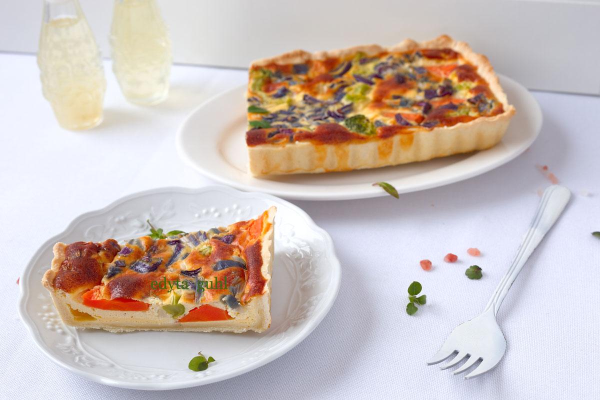 Backrezepte für Tarten. Vegetarische Rezepte. Karotten- Tarte. Edyta Guhl.