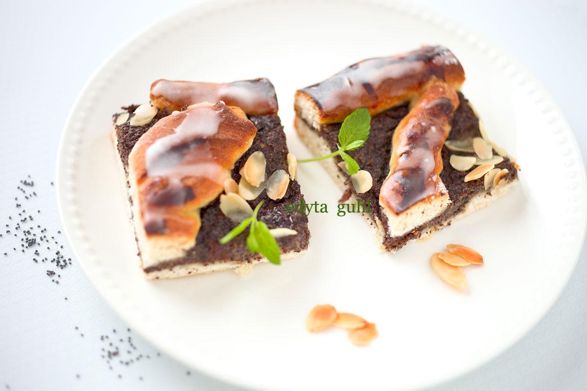 Mohn- Kuchen mit Mandeln. Edyta Guhl. Mohnkuchen- Rezept.