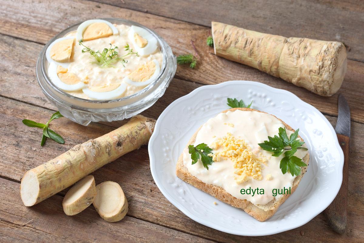 Rezepte mit Ei. Brot- Aufstrich mit Ei. Edyta Guhl.