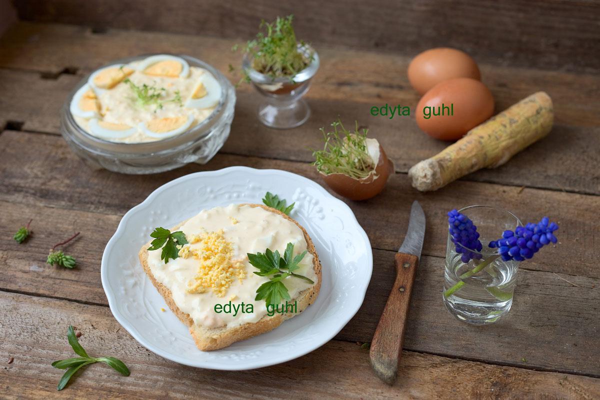 Meerrettich- Eier- Brotaufstrich. Rezept für Brot- Aufstrich. Edyta Guhl.