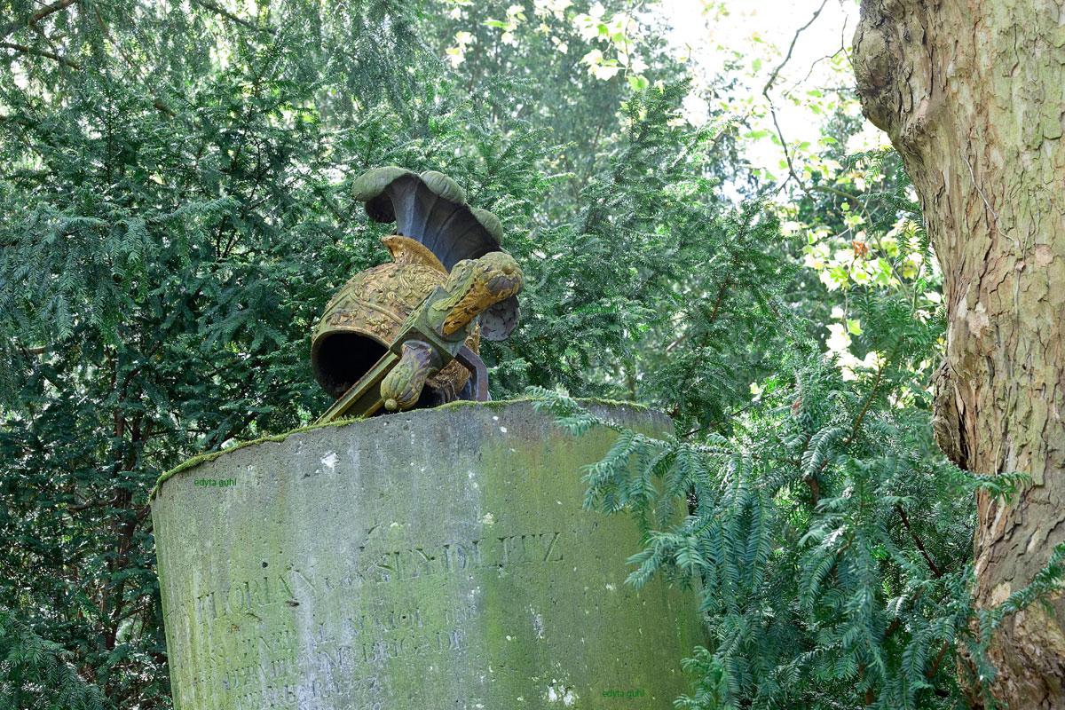 Das Grab von Seydlitz hat ihren Kampf gegen die Natur verloren. Melaten. Edyta Guhl.