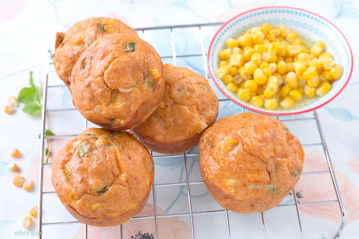 Mais- Muffins. Rezepte für Muffins. Edyta Guhl.