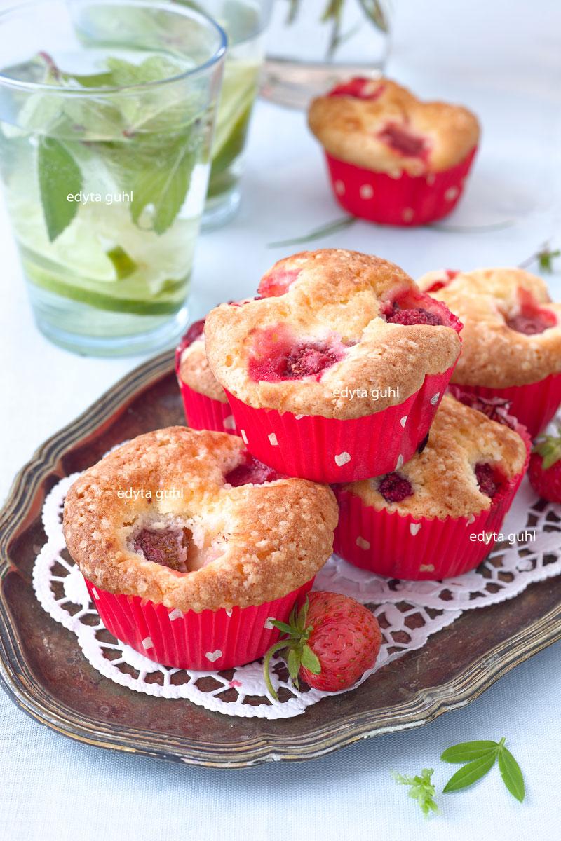 Rezepte für muffins. Erdbeer- Muffins. Edyta Guhl.