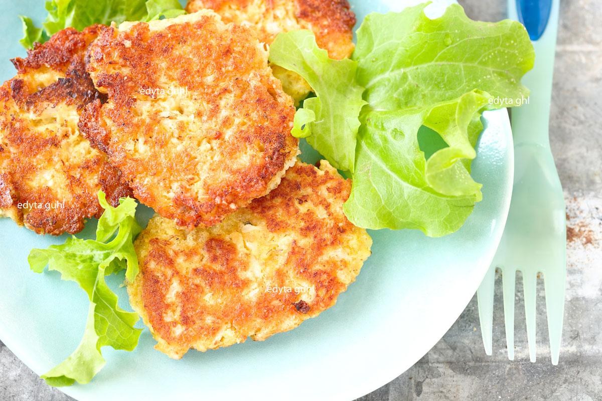Vegane Puffer. Gerichte mit Blumenkohl. Edyta Guhl.
