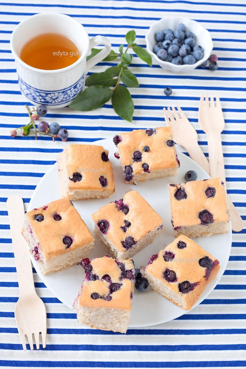 Blaubeer- Kuchen. Kuchen mit Beeren. Edyta Guhl.