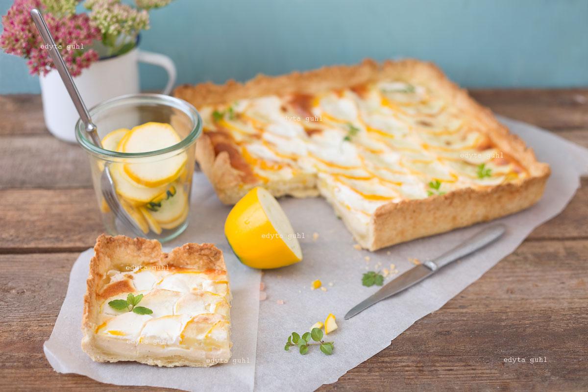 Französische Tarte mit Zucchini. Edyta Guhl.