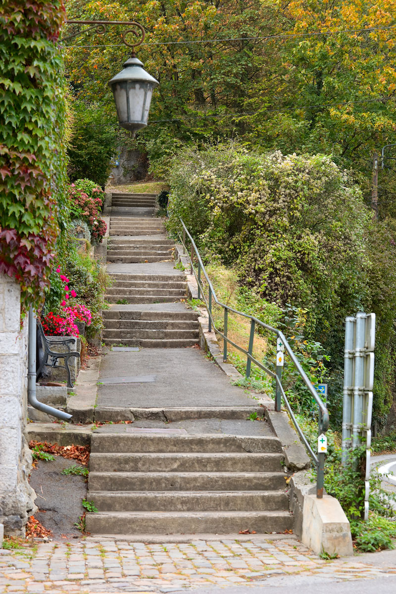 Treppe in Dubuy. Belgien. Edyta Guhl.