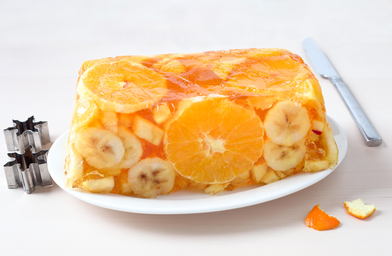 Orangen- Galaretka mit Früchten. Polnische Rezepte. Edyta Guhl.