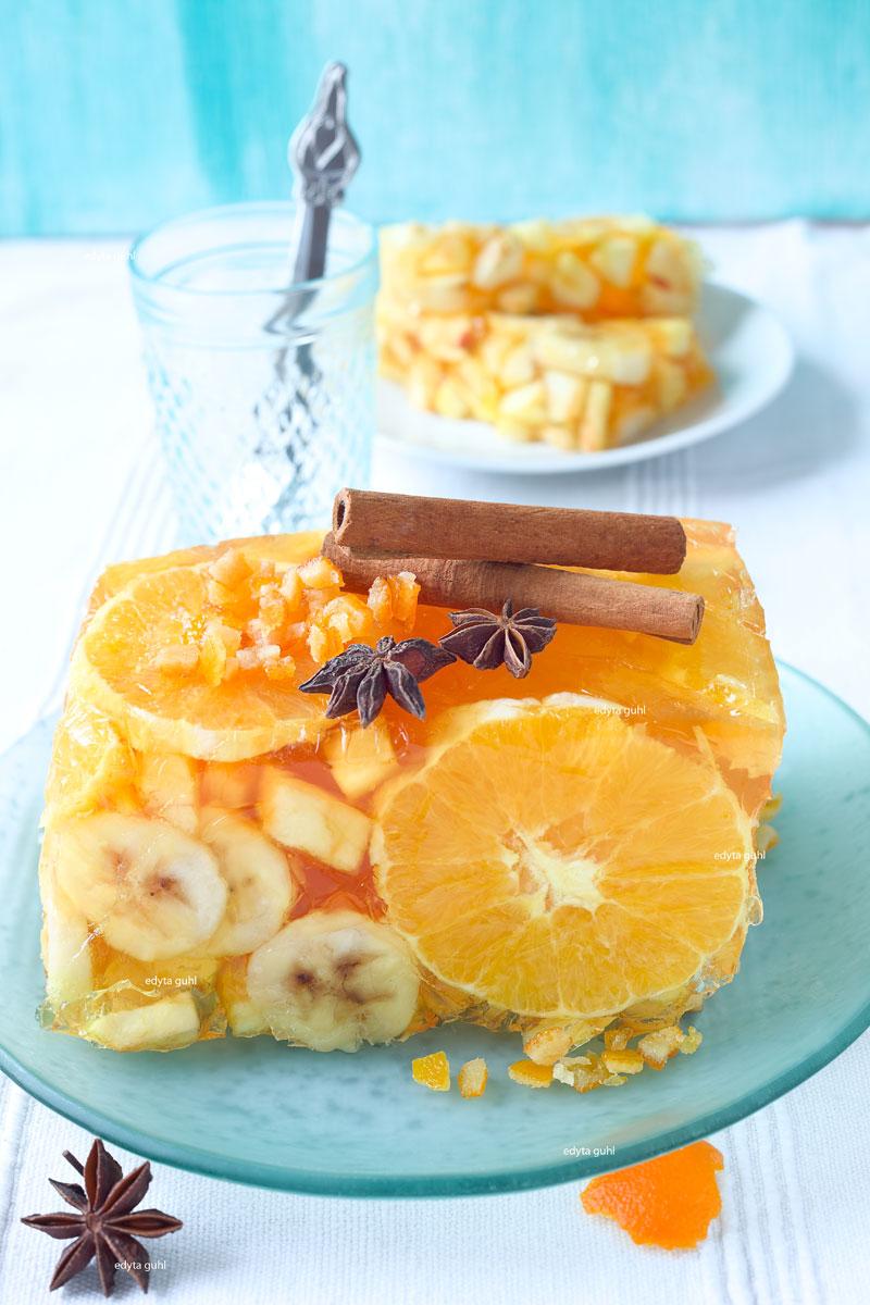Wackelpudding mit Früchten. Orangen- Galaretka. Edyta Guhl.