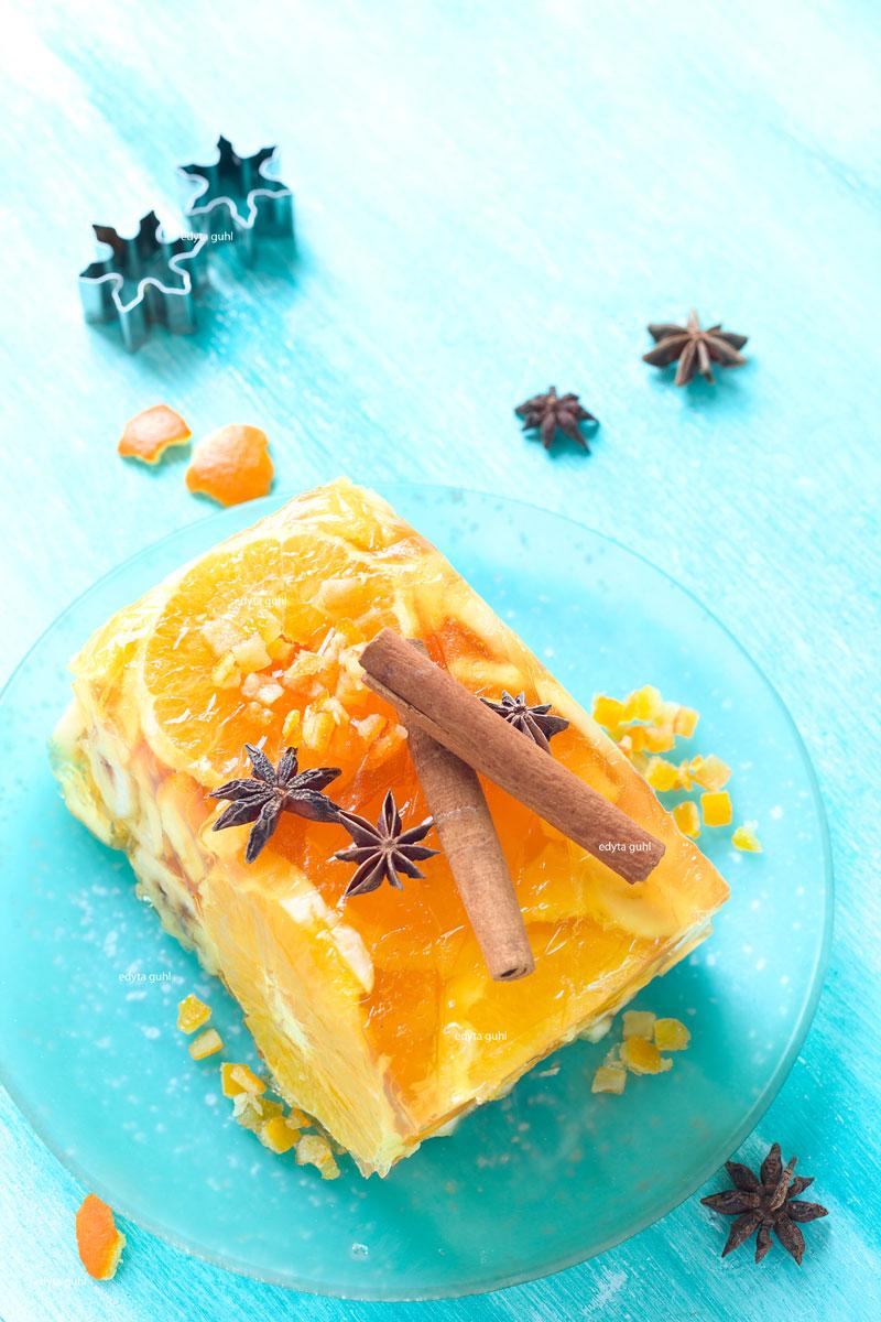 Orangen- Galaretka mit Früchten. Edyta Guhl. Weihnachts-Dessert.