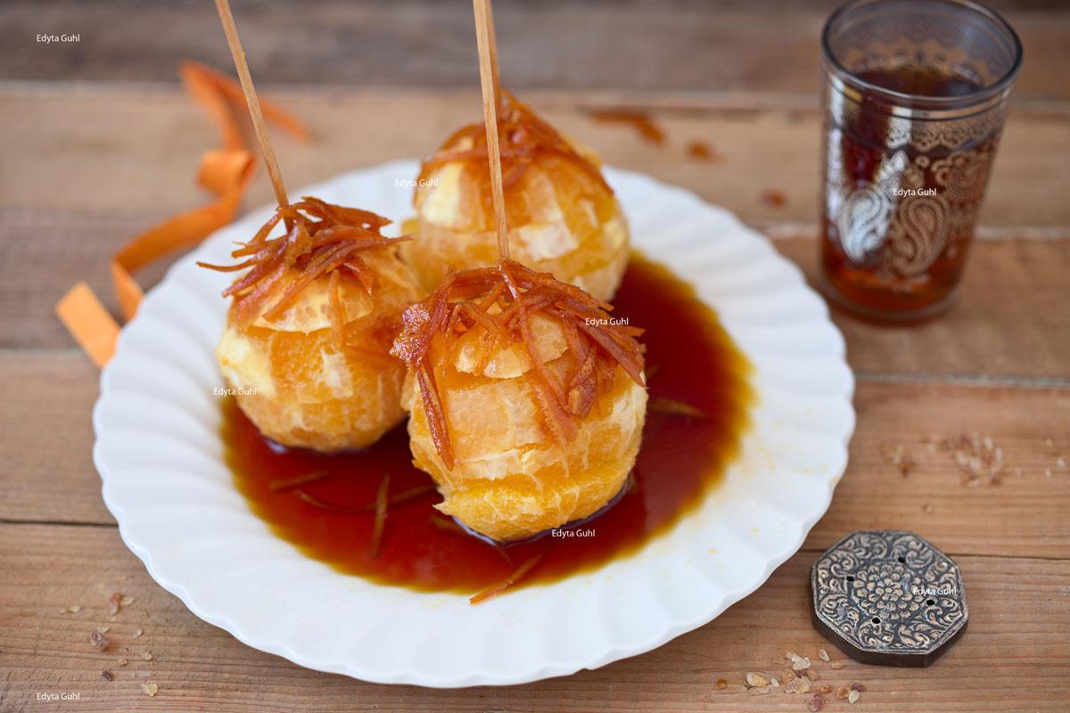 Karamell- Orangen. Rezepte für Dessert. Edyta Guhl.