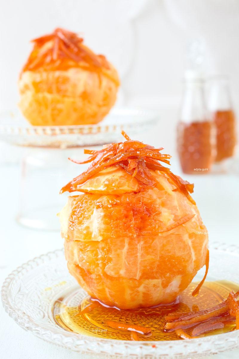 Leckere Orangen in Karamell- Sirup. Edyta Guhl.