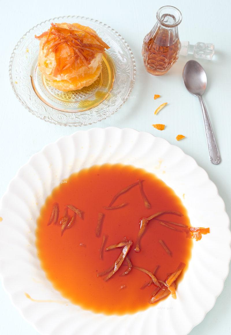 Karamell mit Orangen- Schalen. Edyta Guhl. karamell- Sirup.