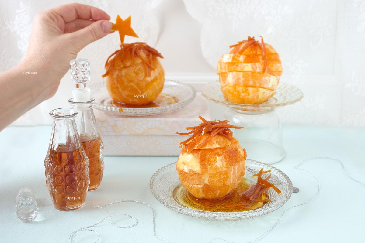 Rezept für Orangen im Karamell. Edyta Guhl.
