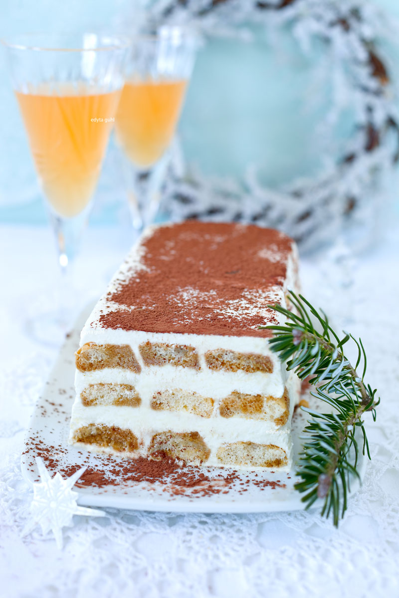 Kalte Desserts: Tiramisu Semifreddo. Edyta Guhl.