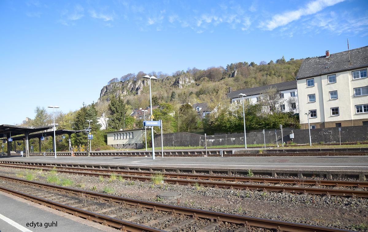 Gerolstein, Bahnhof. Edyta Guhl.