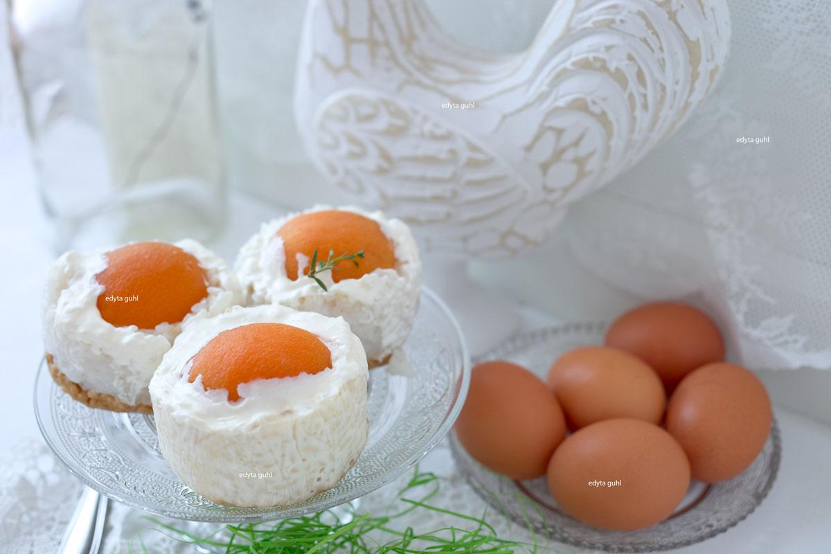 Milchreis- Törtchen mit Aprikosen. Edyta Guhl.