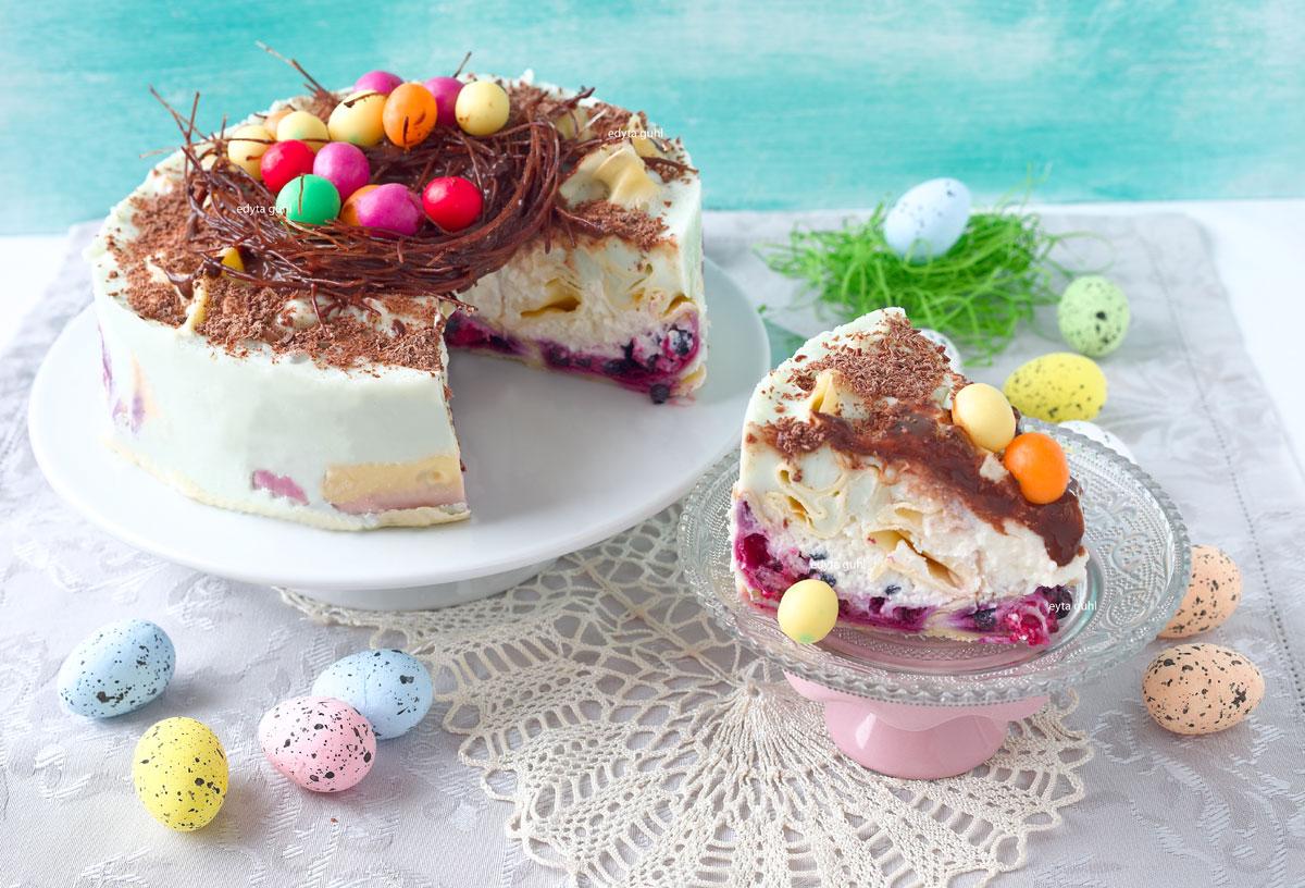 Bunte Eierkuchen- Torte. Edyta Guhl.