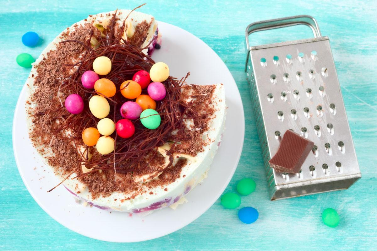 Rezept für bunte Eierkuchen- Torte. Edyta Guhl.