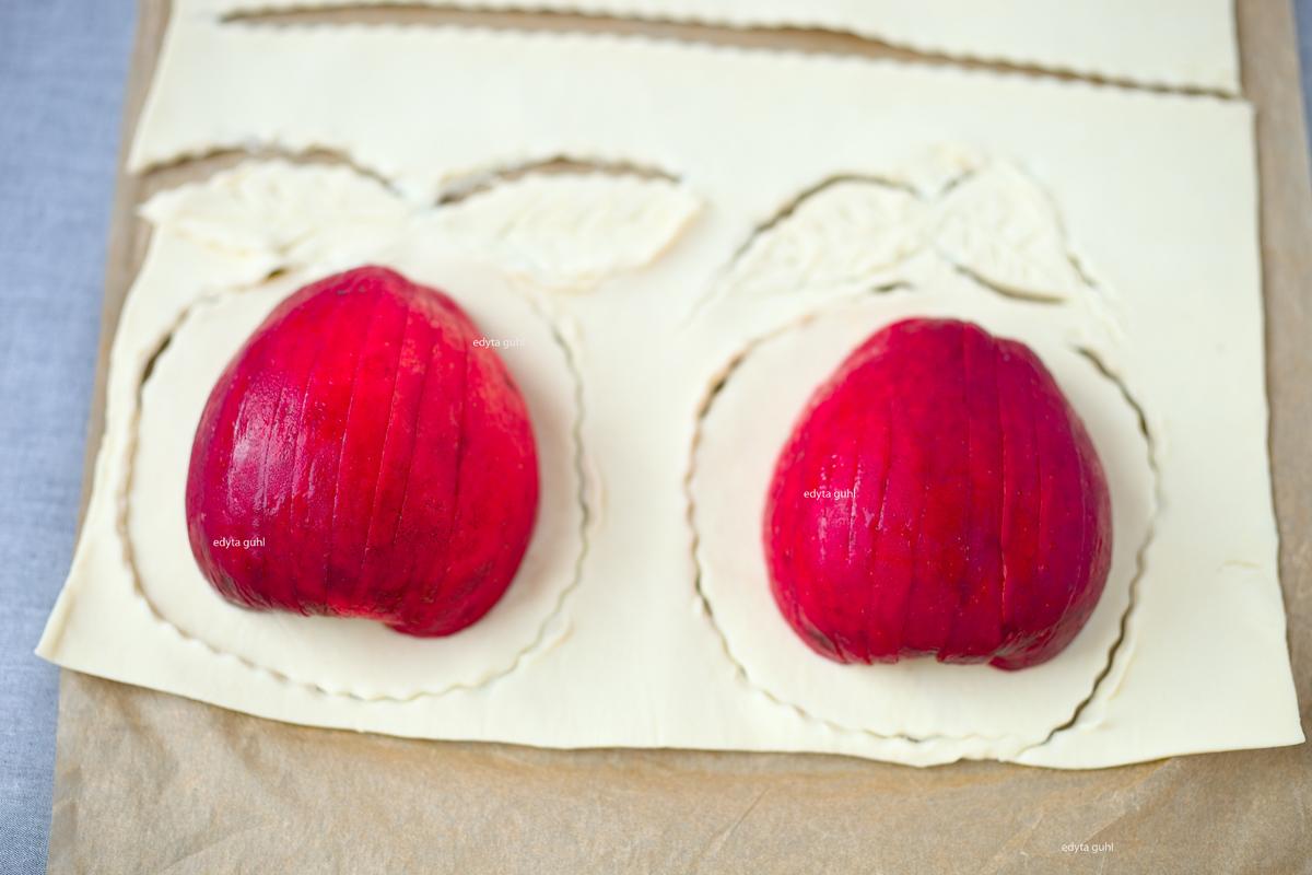 Äpfel im Blätterteig. Edyta Guhl.
