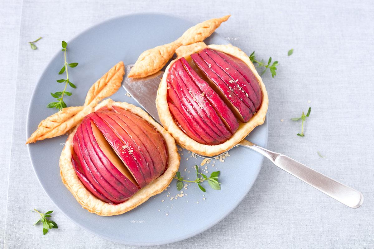 Birnen und Äpfel auf Blätterteig. Ein Traummann gefunden! Edyta Guhl.