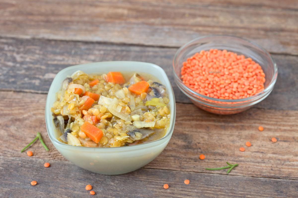 Linsen-Gemüse-kochen