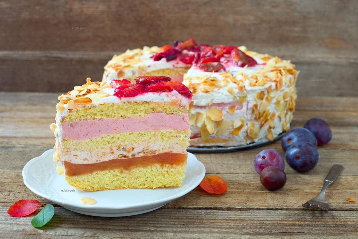Pflaumen- Mandel- Torte