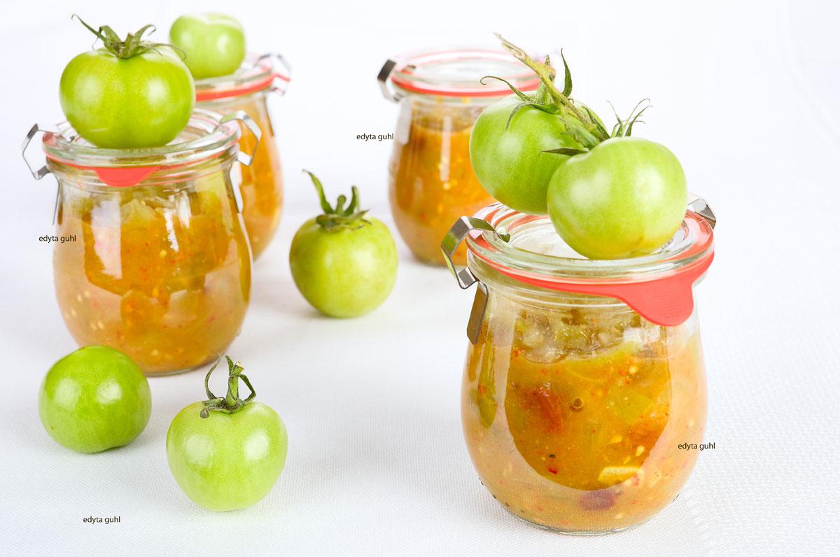 Chutney-von-grünen-Tomaten