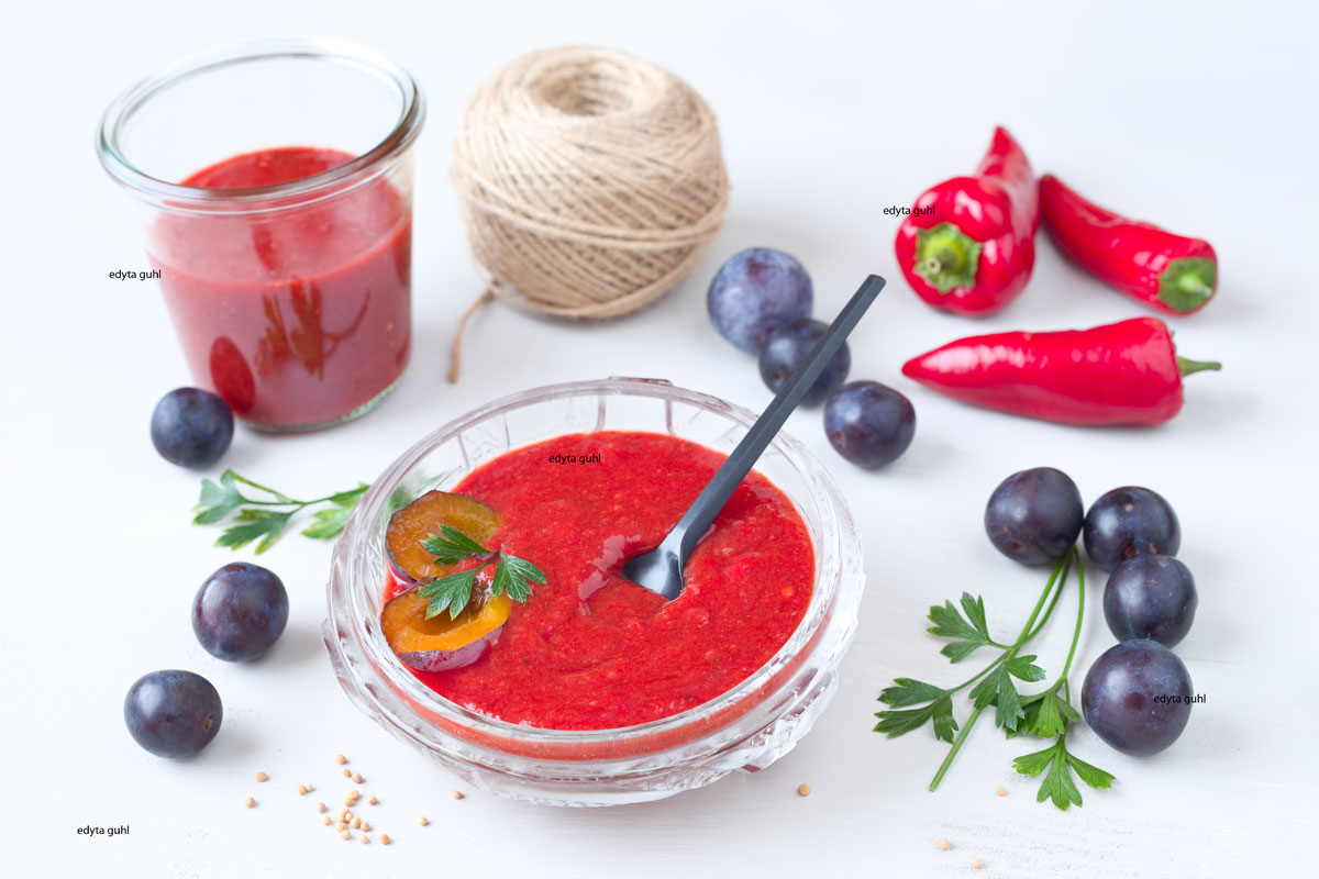 Paprika-Ketchup-mit-Pflaumen