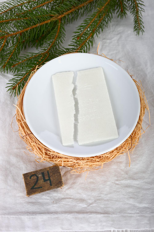 Polnische Tradition am Heiligabend. Oblate. Edyta Guhl.