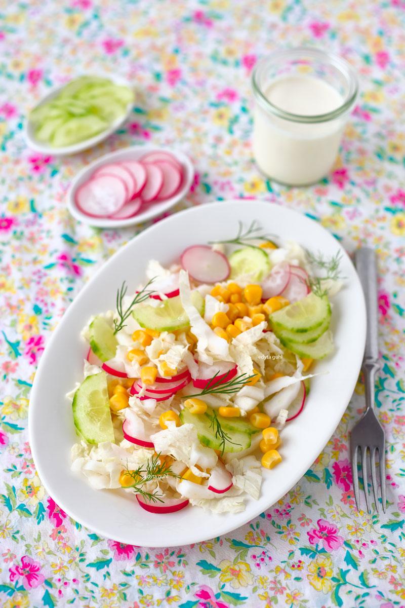 Rezept für Frühlingssalat. Edyta Guhl.