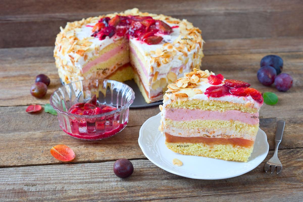 Rezept-für-Pflaumen- Mandel- Torte